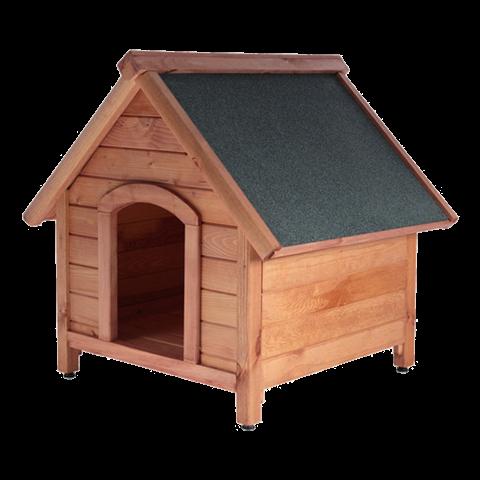 Къща за куче кафява L