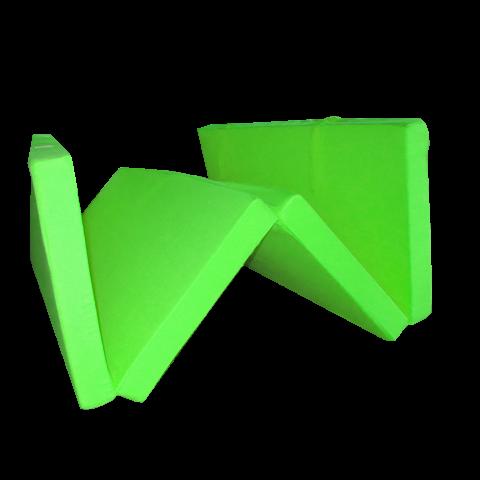Сгъваем матрак 195/120/7 см. ябълково зелен