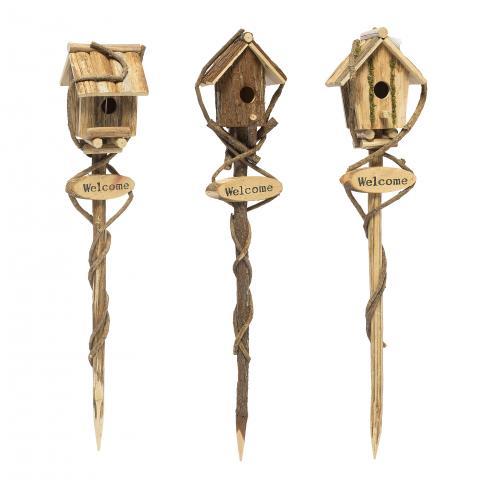 Къщичка за птички с поставка
