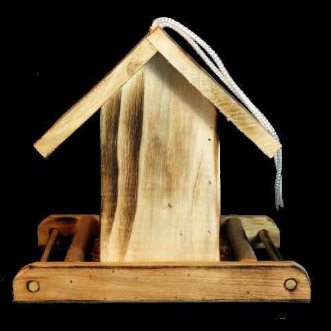 Хранилка за птици със стъклено прозорче