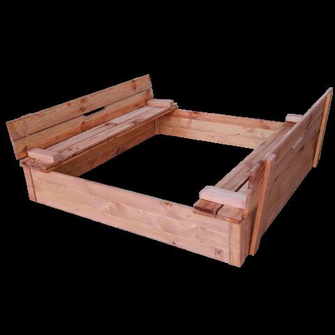 Детски пясъчник с пейки и капак натурален 1
