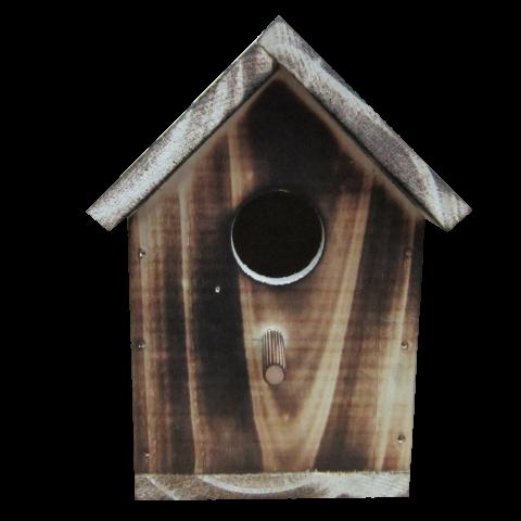 Опушена единична къща за птички