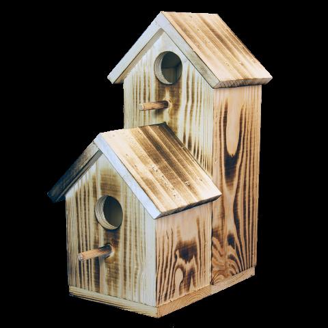 Къща за птици с две отделения