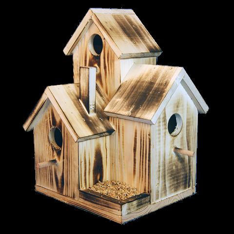 Тройна къщичка за птици