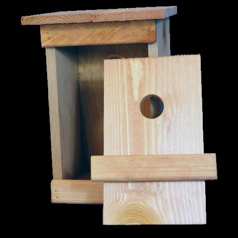 дървена къща за птички